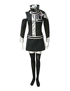Inspired by D.Gray-man Lenalee Lee Anime Cosplay Costumes Cosplay Suits Patchwork Black Long Sleeve Dress / Badge