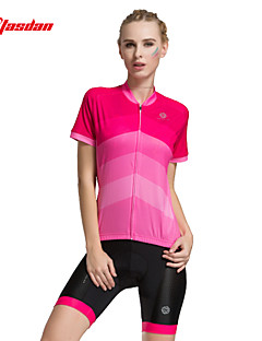 TASDAN Cycling Jersey with Shorts Women's Short Sleeve Bike Shorts Jersey Padded Shorts/Chamois Sleeves TopsQuick Dry Breathable 3D Pad
