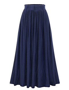 Women's Solid Blue / Black / Gray Skirts,Sexy Maxi