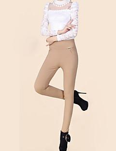 Mulheres Calças Plus Sizes / Casual Skinny Algodão Micro-Elástica Mulheres