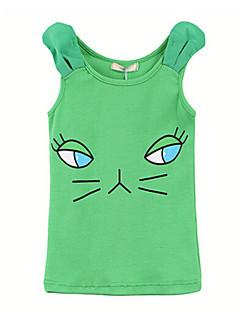 Girl's Vest,Cotton Summer Green / Pink
