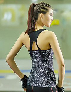 Corrida Malha Íntima / Blusas Mulheres Sem Mangas Respirável / Secagem Rápida / Elástico TeryleneIoga / Pilates / Fitness / Corridas /