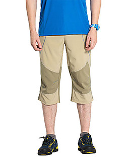 Men Outdoor Sport Quick Drying Wear-resting Sun&UV Protection Lightweight Stretch Cropped Pants