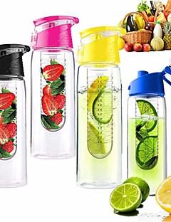 800ml kerékpársport gyümölcs infúzió infuser víz citrom pohár gyümölcslé kerékpár egészségügyi környezetbarát (véletlenszerű szín)
