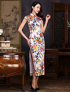 코스프레 코스츔 / 파티 코스튬 민족/종교적 페스티발/홀리데이 할로윈 의상 프린트 드레스 새해 여성 실크