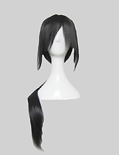 Cosplay Wigs Naruto Itachi Uchiha Black Long Anime Cosplay Wigs 80 CM Heat Resistant Fiber Male