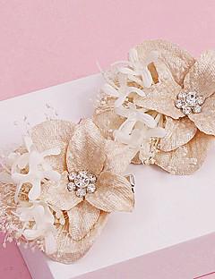 Women's Rhinestone / Fabric Headpiece-Wedding / Special Occasion / Casual / Outdoor Flowers 1 Piece