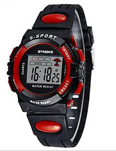SYNOKE Dětské Sportovní hodinky Náramkové hodinky Digitální hodinky Digitální LCD Kalendář Chronograf Voděodolné poplach Svítící PU Kapela