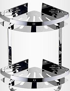 バスルームダブルデッキステンレス鋼三角ストレージバスケット