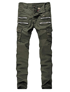 Men's Military Army Green Slim Stretch Denim Biker Jeans