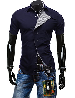 New Spring Men Cotton Shirts Style Solid Color Shirt For Men Short Sleeve Dress Designer Clothes Skinny Mens Shirts