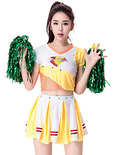 Cheerleader Costumes Outfits Women's Performance Fashion Pleated Dance Costumes