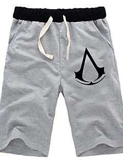 Ispirato da Assassin's Creed Altair Anime Costumi Cosplay Cosplay Tops / Bottoms Tinta unita Nero / Grigio Pantaloncini