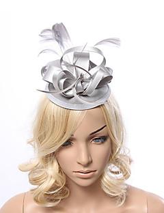 Mulheres Penas / Tecido Capacete-Ocasião Especial Fascinador 1 Peça