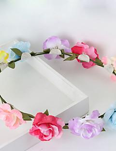 Dame / Blomsterpige Stof Medaljon-Bryllup / Speciel Lejlighed / Afslappet / Udendørs Krans 1 Stykke