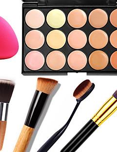 15 Concealer/Kontur+ConcealerPuff av pulver/Skjønnhetsblender Sminkebørster Våt Matt Glans Ansikt KropFukt Solbeskyttelse تغطية Bleking