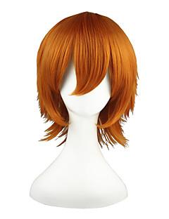 Cosplay Wigs Shirobako Roxas Orange Short Anime Cosplay Wigs 35 CM Heat Resistant Fiber Male / Female