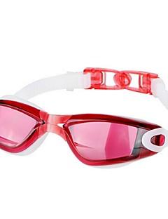 YS плавательные очки Универсальные Противо-туманное покрытие / Водонепроницаемый / Небьющийся Инженерная резина Поликарбонаткрасный /