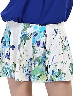 Vintage / Streetchic Shorts Byxor Kvinnors Microelastisk Bomull / Polyester