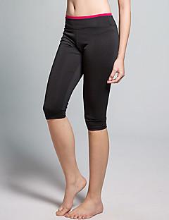 Yoga Pants Cropped Respirável / Redutor de Suor Natural Stretchy Wear Sports Vermelho / Preto Mulheres OutrosIoga / Alpinismo / Fitness /