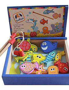 jouets magnétiques boîte en bois paquet de pêche, des jouets de pêche magnétiques pour enfants