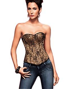 Serre Taille / Corset / Grande Taille Vêtement de nuit Femme,Sexy / Push-up / Imprimé / Rétro Jacquard-Moyen Nylon / Polyester OrAux