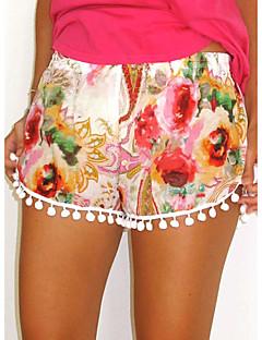 Kvinner Shorts Bukser Bomull Uelastisk