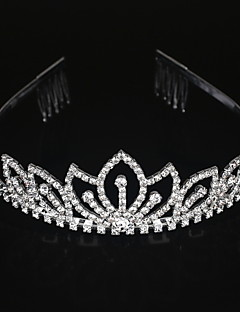 Dame Legering Medaljon-Bryllup / Speciel Lejlighed Diademer Klar Rund