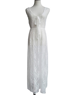 Women's Vintage/Sexy/Beach/Lace/Party/Honeymoon/Maxi Micro-elastic Sleeveless Maxi Dress (Lace)