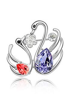 Dame Broșe Cristal Păun Bijuterii Pentru Nuntă Petrecere
