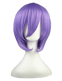 Cosplay Wigs Suzumiya Haruhi Hiiragi Tsukasa Purple Short Anime Cosplay Wigs 35 CM Heat Resistant Fiber Male / Female