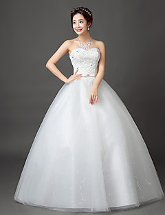 Ball Gown Wedding Dress Simply Sublime Floor-length Sweetheart Lace Satin Tulle with Lace