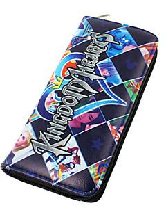 Carteiras Kingdom Hearts Sora Anime Acessórios Cosplay Pele PU