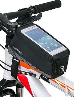 ROSWHEEL® Cyklistická taška 1.5LBrašna na rám Voděodolný / Voděodolný zip / Odolné vůči šokům / Nositelný Taška na kolo Síťování / Terylen