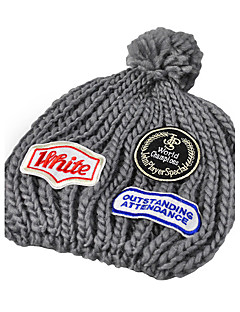 Plush Ball Cap Affixed Cloth Fashion Autumn And Winter Outdoor Warm Knit Hat