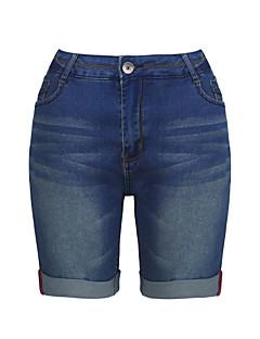 Femei Femei Pantaloni Simplu(ă) Blugi Bumbac Micro-elastic