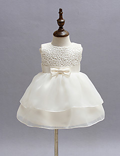 Baby Girl's White Dress, Bow Polyester All Seasons