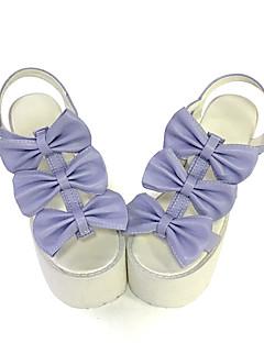 Punk Lolita Leather 10 High Heel Purple Lolita Shoes