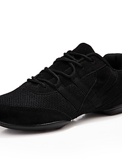 Men's Dance Shoes Sneakers Breathable Synthetic Low Heel Black