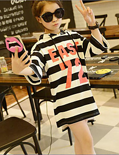 Girl's Casual/Daily Striped Hoodie & Sweatshirt,Cotton / Polyester Spring / Fall Black