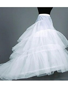 Slips Chapel Train Floor-length 4 Tulle Netting White