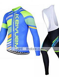 KEIYUEM® Cycling Jersey with Bib Tights Unisex Long Sleeve BikeBreathable / Thermal / Warm / Quick Dry / Insulated / Dust Proof /