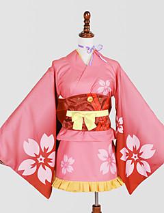 קיבל השראה מ Kabaneri Of The Iron Fortress שחקנית חסרת שם אנימה תחפושות קוספליי חליפות קוספליי קימונו דפוסעניבה Yukata כיסוי ראש מחוך