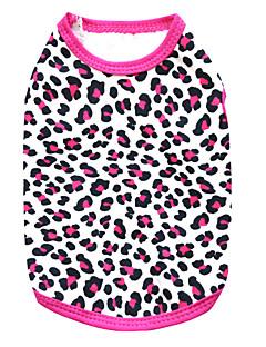 Kissat / Koirat T-paita Maalattu / Ruusunpunainen Koiran vaatteet Kesä Matta musta Muoti