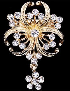 여성 브로치 모조 다이아몬드 패션 골든 보석류 결혼식 파티 특별한 때 생일 일상 캐쥬얼