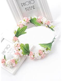 Women's / Flower Girl's Foam Headpiece and Wrist Wedding / Special Occasion Flowers 1 Set