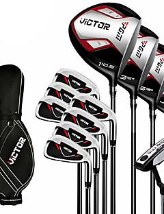 outdoor homens de metal wearproof conjuntos de tacos de golfe de golfe novato conjunto de 12