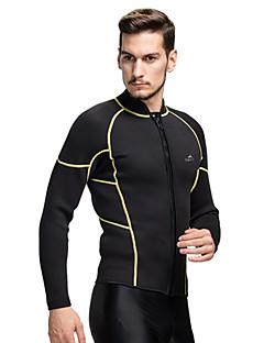 男性用 3mm ウェットスーツ ウェットトップ タッパー/ウェットジャケット 保温 ビデオ圧縮 タクテル 潜水服 ダイビングスーツ スイムウェア トップス-潜水 サーフィン シュノーケリング
