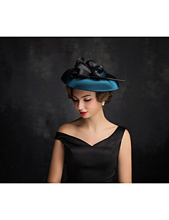 Women's Satin / Feather / Flax / Net Headpiece-Special Occasion Fascinators 1 Piece Clear