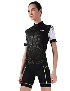 Camisa com Shorts para Ciclismo Mulheres Manga Curta Moto Camisa/Roupas Para Esporte Shorts Blusas Calças Respirável Redutor de Suor